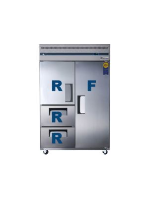 "Everest ESRF2D2 Four Solid Door Upright Freezer / Refrigerator 49.75""   FREE SHIPPING WITH LIFT GATE!"