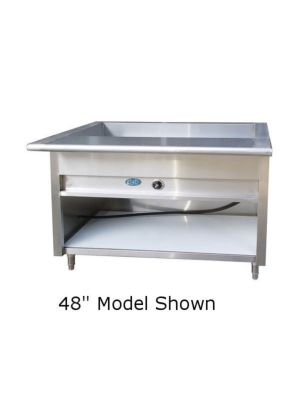 "L&J EST-120 Electric Steam Table 120"" - 208V - 1 Phase"