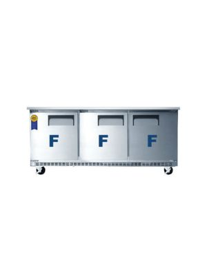 "Everest ETBF3 Triple Door Back-Mount Under-Counter Freezer 71""   FREE SHIPPING WITH LIFT GATE!"