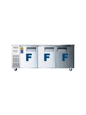 "Everest ETF3 Triple Door Side-Mount Under-Counter Freezer 71""   FREE SHIPPING W/O LIFTGATE"