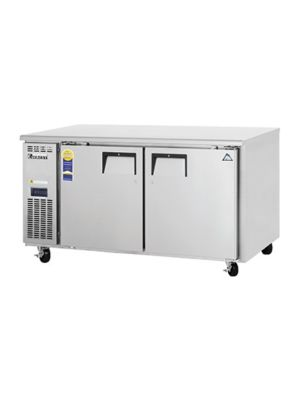 "Everest ETWF2 Dual Door Side-Mount Under-Counter Freezer 59.5""    FREE SHIPPING W/O LIFTGATE"