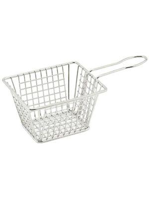 Winco FBM-544T Stainless Steel Rectangular Mini-Fry Basket