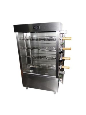Ampto FRE4VE Commercial 16 Chicken Capacity Rotisserie Electric Oven Machine - 220V