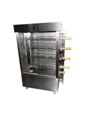 Ampto FRG6VE Commercial 30 Chicken Capacity Rotisserie Gas Oven Machine - 90,000 BTU