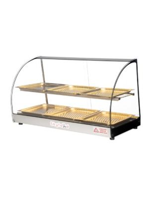 "Skyfood FWD2-33-6P Countertop Heated Food Warmer Display Case w/ 2-Shelves and 6-Trays 33"" - 110V"