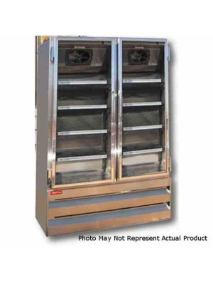 Howard McCray GF48BM-LT Hinged Double Glass Door Ice Cream Merchandiser Freezer