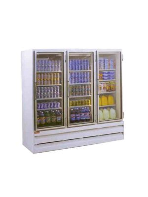 Howard McCray GF75BM-LT Hinged Three Glass Door Ice Cream Merchandiser Freezer