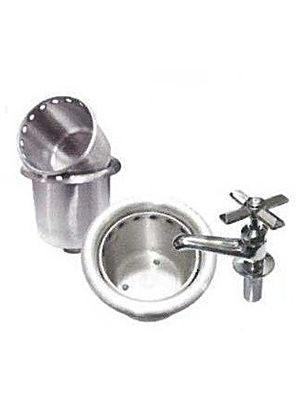 L&J IDWB-4 Ice Cream Round Dipper Well with Faucet
