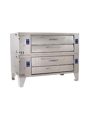 "Bakers Pride Y-602BL Super Deck Series 60"" Gas Double Deck  Brick Lined Pizza Oven - 240,000 BTU"