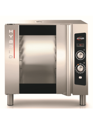 MVP Group Axis AX-HYBRID Electric Full Size Manual Controls Convection Oven with Humidity - 5 Sheet Pan Capacity - FREE SHIPPING W/O LIFTGATE