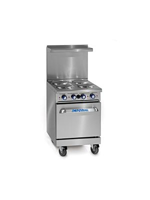 """Imperial IR-4-E Electric Range with 4 Electric Burners 24"""" - 208V, Three Phase"""