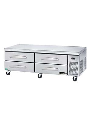 "MVP Group KCB-74-4M 74 1/8""W Kool-It Series Refrigerated Chef Base - FREE SHIPPING W/OUT LIFTGATE"