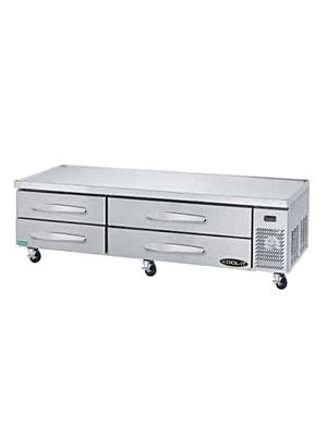 "MVP Group KCB-83-4M Kool-It Series 83 1/4""W Refrigerated Chef Base - FREE SHIPPING W/OUT LIFTGATE"