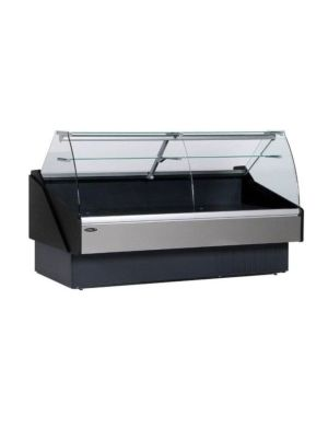 MVP Group KFM-CG-80-S Hydra Kool Red Meat/Deli Curved Front Display Case - 77-1/2""