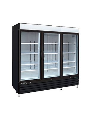 MVP Group KGF-72DV Kool-It Series Three Glass Door Merchandiser Freezer Double Voltage - FREE SHIPPING W/OUT LIFTGATE