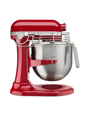Kitchen Aid KSMC895ER Commercial Countertop 8 Quart Mixer including Bowl with Lift, Hook, Flat Beater, Whip, and Bowl Guard - Empire Red