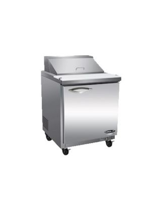 MVP Group ISP29 IKON Series One-Door Stainless Steel Sandwich/Salad Prep Table  FREE SHIPPING W/O LIFTGATE