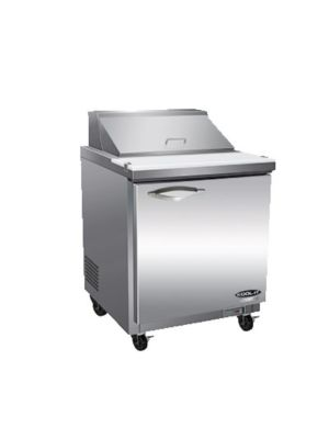 MVP Group ISP29M IKON Series One-Door Stainless Steel Megatop Sandwich/Salad Prep Table  FREE SHIPPING W/O LIFTGATE