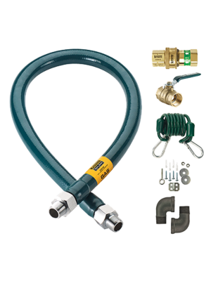 "Krowne Royal Series M10048K Moveable Gas Connection Kit, 1"" I.D., 48"" long"