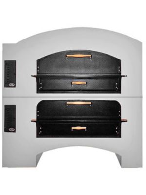 Marsal MB-60 Stacked Gas Pizza Oven- Stainless Steel Front- 260,000 BTU