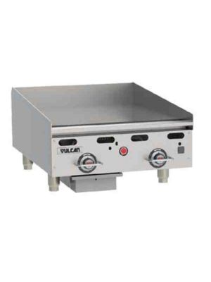 "Vulcan MSA24-101 24""  Heavy Duty Griddle, Natural Gas - Free Shipping Without Liftgate!"