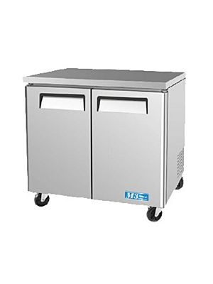 Turbo Air MUF-36-N Two-Door M3 Series Undercounter Freezer - FREE SHIPPING WITHOUT LIFTGATE