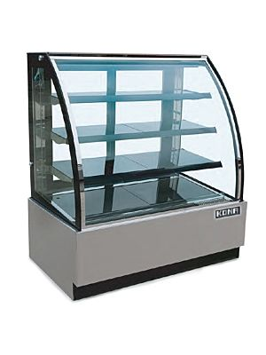 "Kona NJGL-48 47.2""W Curved Glass Refrigerated Display Case"