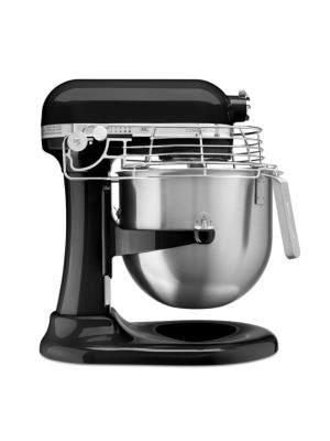 Kitchen Aid KSMC895OB Commercial Countertop 8 Quart Mixer including Bowl with Lift, Hook, Flat Beater, Whip, and Bowl Guard - Onyx Black