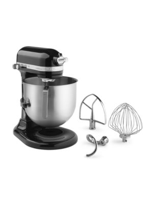 Kitchen Aid KSM8990OB Commercial Countertop 8 Quart Mixer including Bowl with Lift, Hook, Flat Beater and Whip - Onyx Black