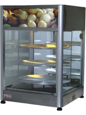 Skyfood PD3TS18 Countertop Pizza Display Case Merchandiser / Warmer - Triple Tray 18'' - 120V