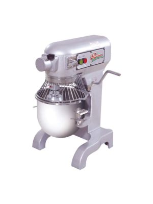 MVP Group Primo PM-10 10 Quart Planetary Mixer w/ Bowl, Bowl Guard Flat Beater, Wire Whip, Dough Hook, 120V