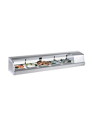 Turbo Air SAK-70R-N Six Foot Refrigerated Sushi Display Case - FREE SHIPPING WITHOUT LIFTGATE