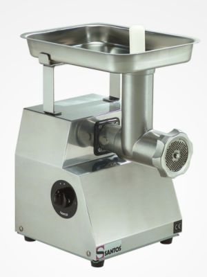 Santos SAN12-12 Stainless Steel Meat Mincer with 3 Plates - FREE SHIPPING