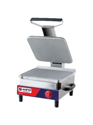 "Ampto SASE 13""x14"" Electric Ribbed Sandwich Grill - FREE SHIPPING"