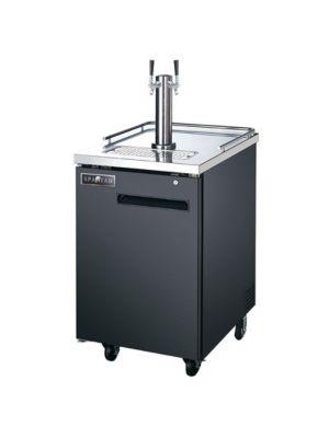 Spartan SBD-1 Black 1 Keg Beer Dispenser - 6.5 Cu Ft. Capacity