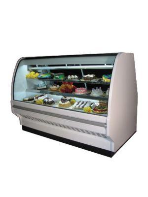 "Howard McCray SC-CBS40E-6C-LED Curved Glass Bakery Case 75"""