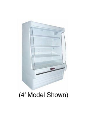 "Howard McCray SC-OD35E-4-LED Self-Contained Multi-Purpose Open Merchandiser 51"" (White)"