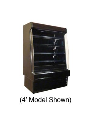 "Howard McCray SC-OD35E-6-B-LED Self-Contained Multi-Purpose Open Merchandiser 75"" (Black)"