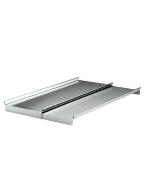 "Krowne SC36H Stainless Steel Partial Underbar Ice Bin Cover for 36""W Ice Bin with Bottle Wells"