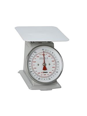 "Winco SCAL-62 2lb Receiving Scale with 6.5"" Dial and Quarter-Ounce Graduations"