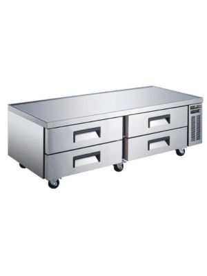 "Spartan SCB-72 72.5""  Refrigerated Chef Base with 4 Drawers"
