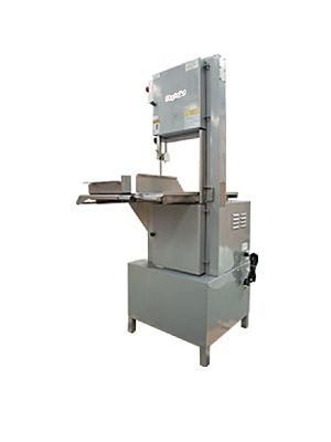 "Skyfood SKEX Electric Floor Model Meat / Bone / Band Saw - 98"" Blade - 115V"