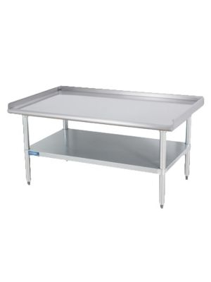 "Sapphire SMES-3084S Stainless Steel Equipment Stand with Adjustable Stainless Steel Undershelf - 84""W x 30""D"