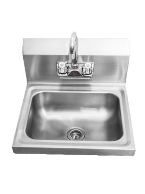 """Sapphire SMHS-01 Wall Mounted Hand Sink with Faucet - 17"""" Wide - 5 1/2"""" Bowl Depth"""