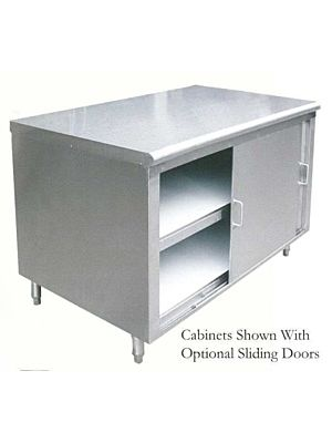 "L&J ST-316-96 Stainless Steel Dish Cabinet - 16"" x 96"""