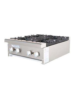 "Turbo Air TAHP-24-4 Radiance Series 24"" Countertop Gas Hot Plate - 128,000 BTU"