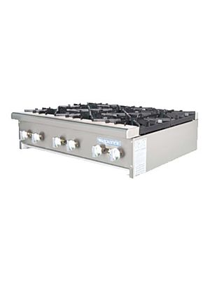 "Turbo Air TAHP-36-6 Radiance Series 36"" Countertop Gas Hot Plate - 192,000 BTU"