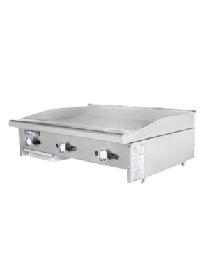 "Turbo Air TAMG-36 Radiance Series 36"" Manual Gas Griddle –  66,000 BTU"