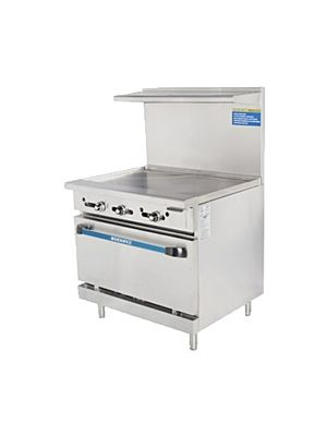 "Turbo Air TAR-36G Radiance Series 36"" Griddle Top Gas Restaurant Range - 94,000 BTU"