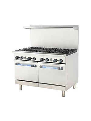 "Turbo Air TAR-8 Radiance Series Open 8 Burner Gas Restaurant Range 48"" - 320,000 BTU"
